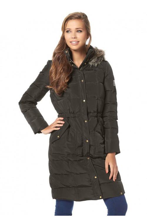 Prošívaný péřový kabát, dámský nebo dívčí zimní péřový kabát AJC (vel.36 skladem)