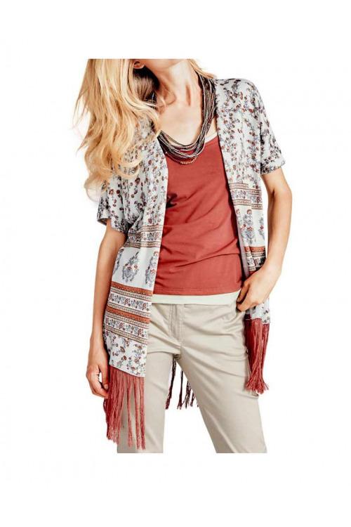 Dámský pletený svetr s třásněmi Heine