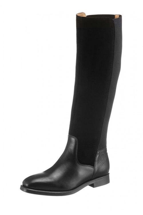 GANT, černé značkové dámské kozačky levně, kožené kozačky (vel.41 skladem)