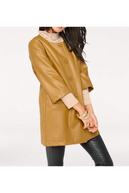 Retro look, kabát imitace kůže, HEINE