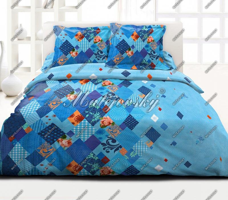Bavlněné ložní povlečení deluxe Valencia blue - modrá
