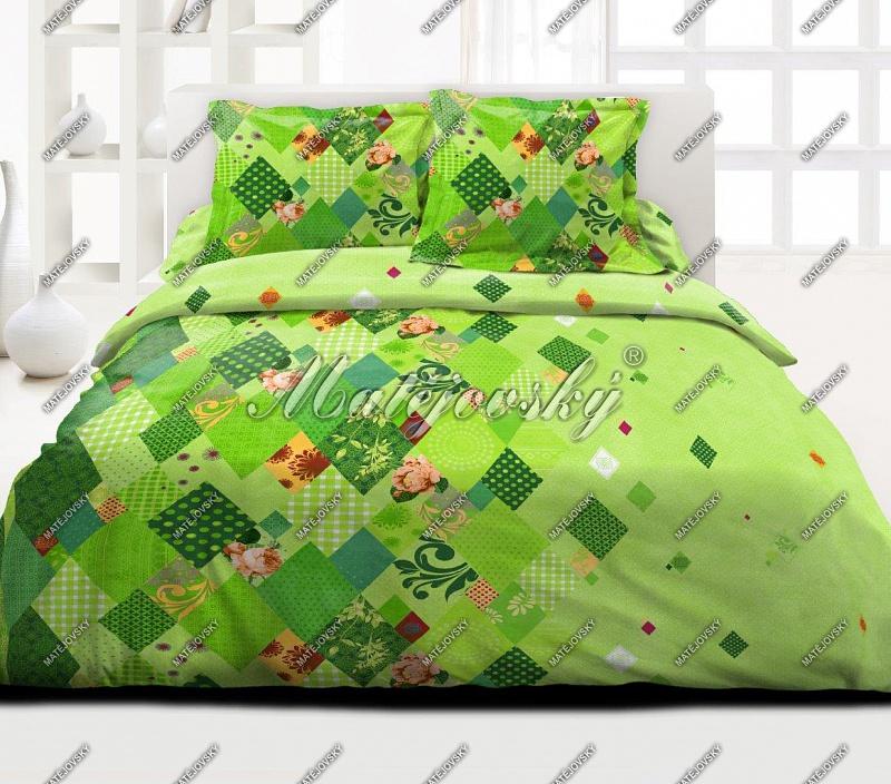 Bavlněné ložní povlečení deluxe Valencia green - zelená