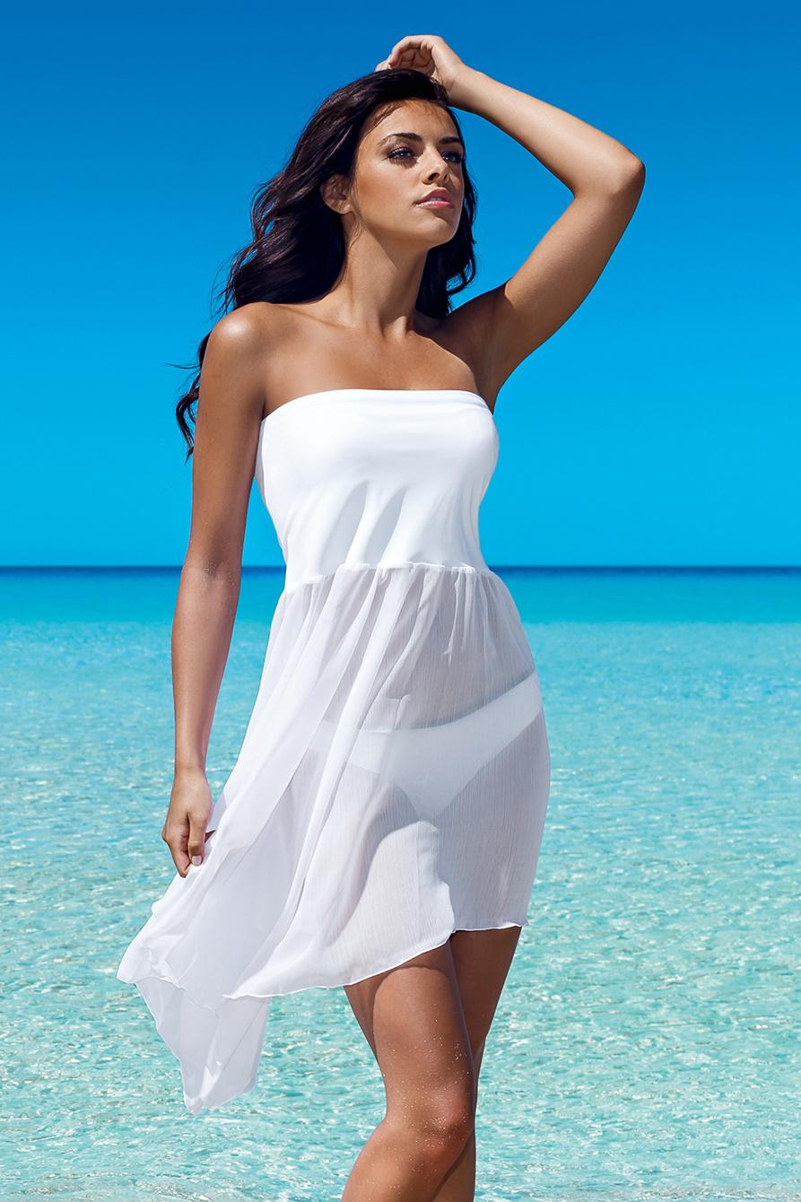 Bílá plážová sukně Margaret 2 - bílá