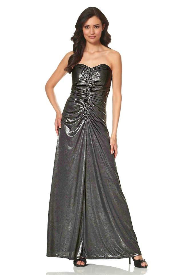 Metalické dlouhé večerní šaty Laura Scott Evening