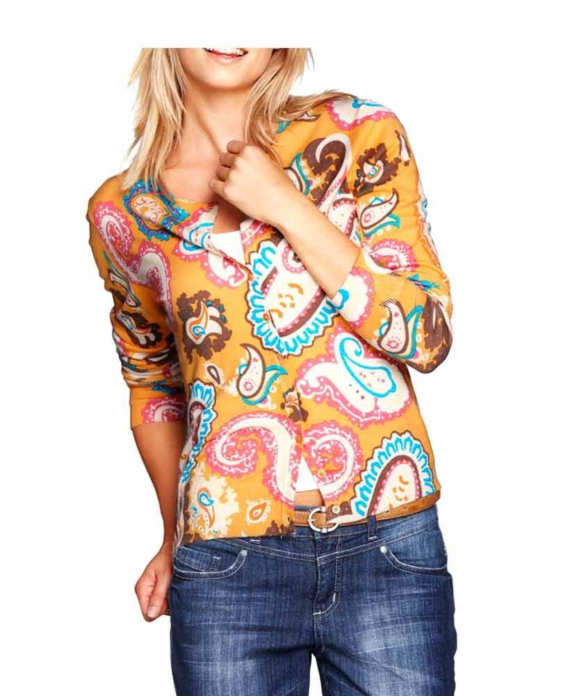 Pletený svetr na zapínání, dámský svetr na knoflíky, HEINE