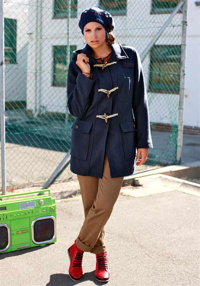 Vlněný dámský dufflecoat, Sneaker (vel.40 skladem)
