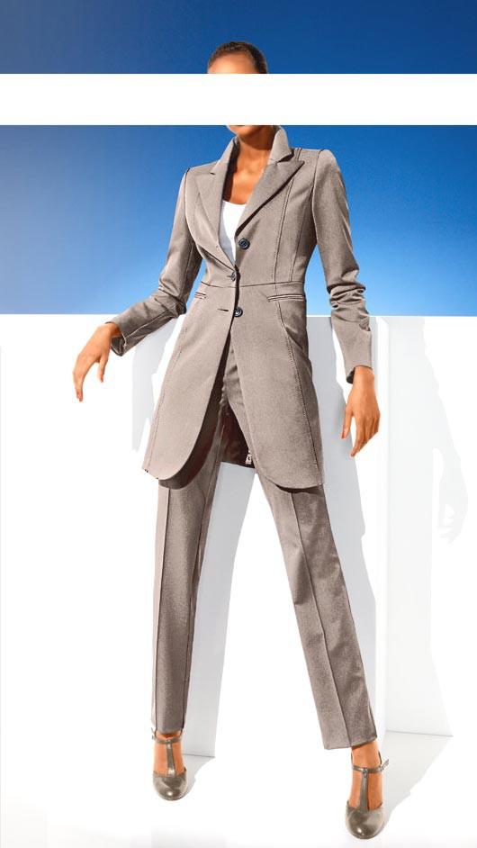 Zeštíhlující dámský kalhotový kostým, CLASS INTERNATIONAL (vel.40 skladem)