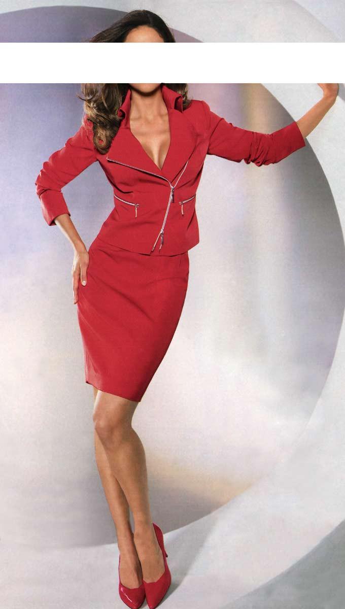 Dámský kostým se sukní, CLASS INTERNATIONAL (vel.38 skladem) 34 červená