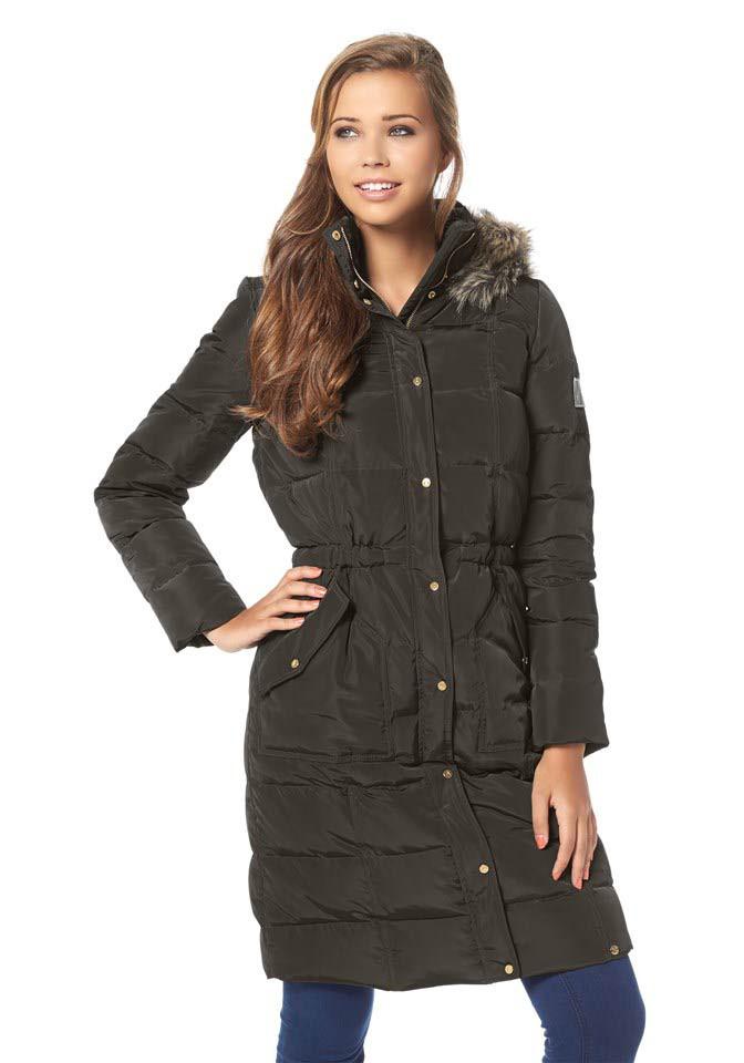 Prošívaný péřový kabát, dámský nebo dívčí zimní péřový kabát AJC (vel.42 skladem)