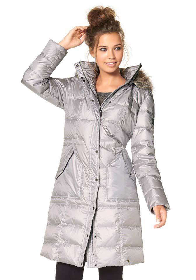 Zimní kabáty, prošívaný péřový zimní kabát AJC (vel.36 skladem)