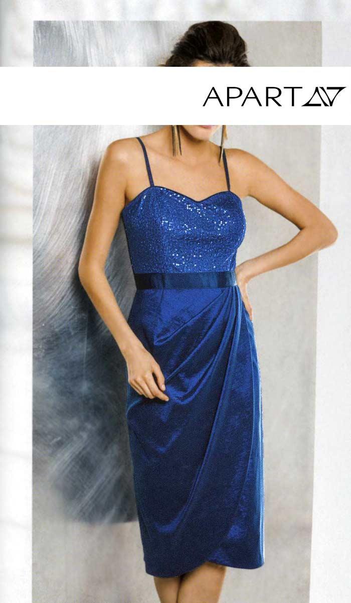 Slavnostní šaty APART (vel.46 skladem) 34 modrá royal