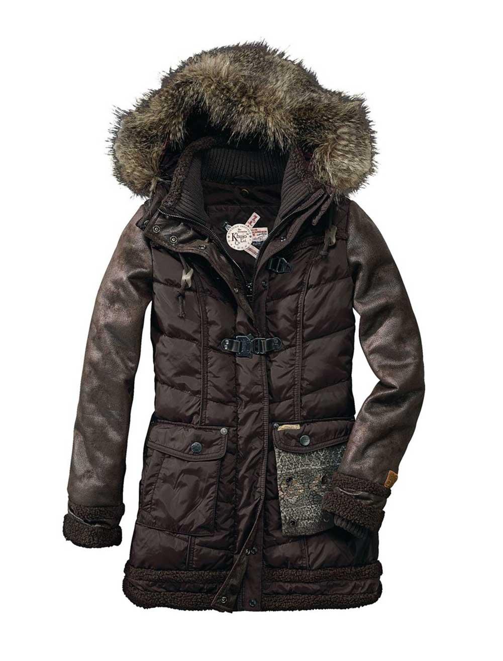 Zimní prošívaný dámský kabát KHUJO