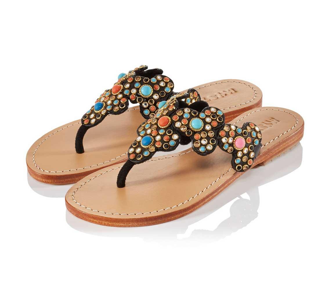 Značkové letní sandálky s kamínky Swarovski