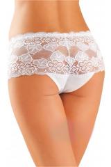 Bavlněné kalhotky brazilky 99 bílé - bílá