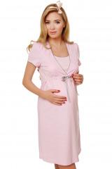Bavlněná těhotenská noční košile Felicita růžová