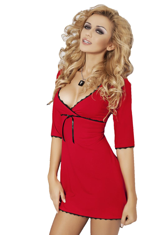 Dámská viskózová noční košilka Magnolia červená 2d21a5a729