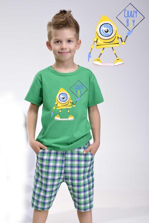 Chlapecké bavlněné pyžamo Julek zelené