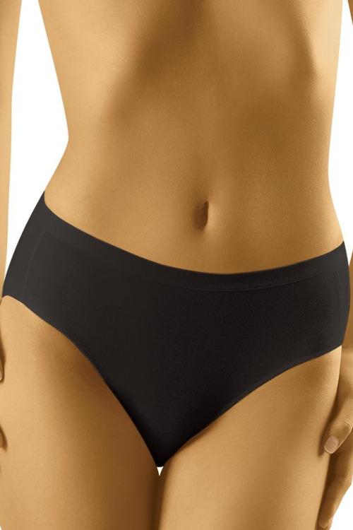 Dámské kalhotky s vyšším pásem Comforta černé