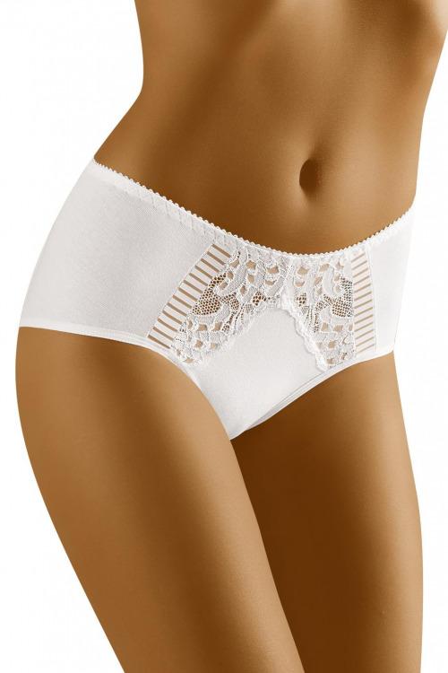 Dámské kalhotky s vyšším pásem ECO-QE bílé