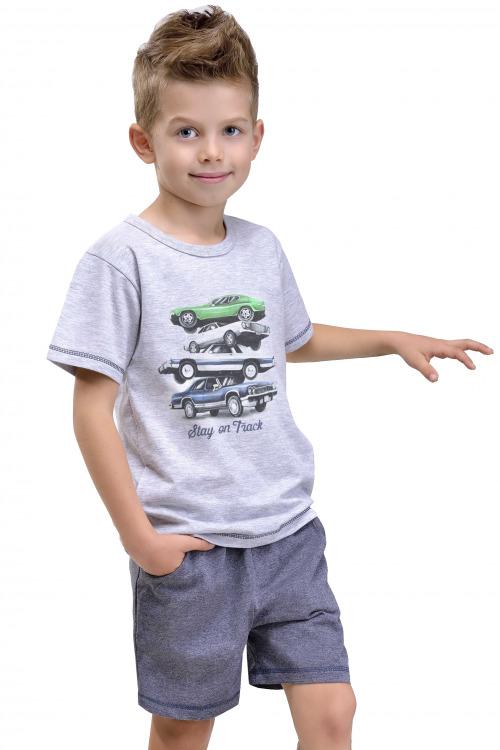 Dětské bavlněné pyžamo Nátan šedé