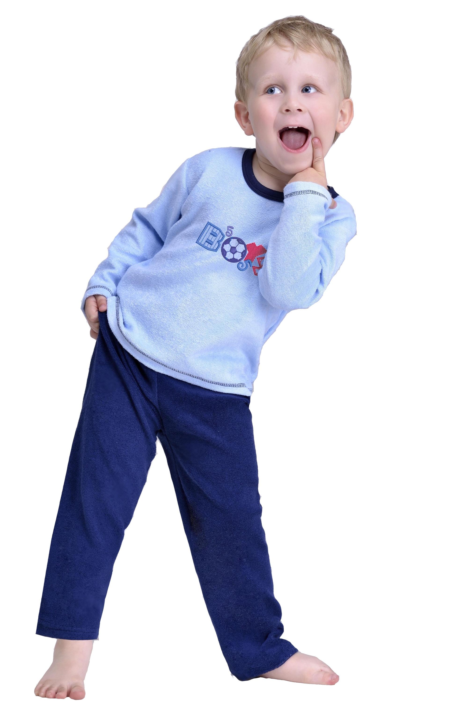 Froté chlapecké pyžamo Boys modré - modrá