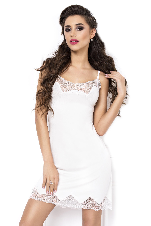 Dámská noční košilka Laila ecru - bílá