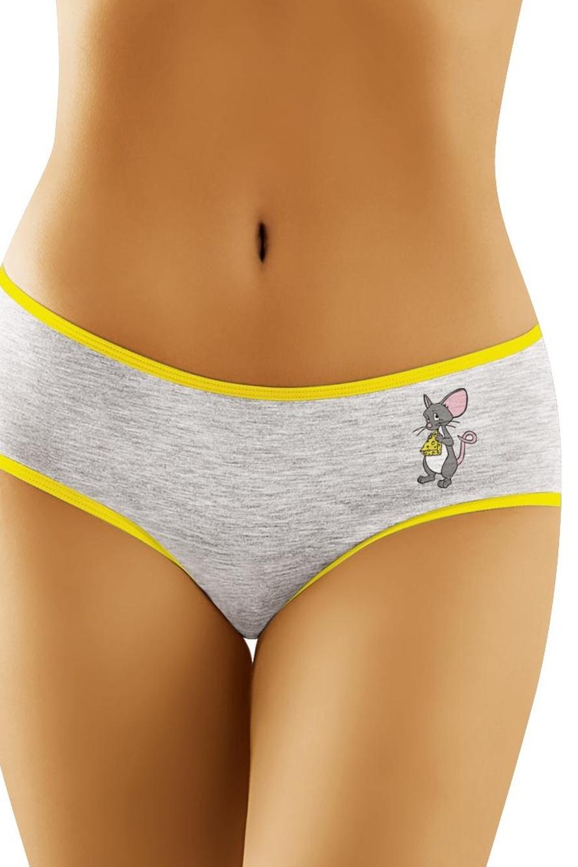 Bavlněné kalhotky Myška - šedá