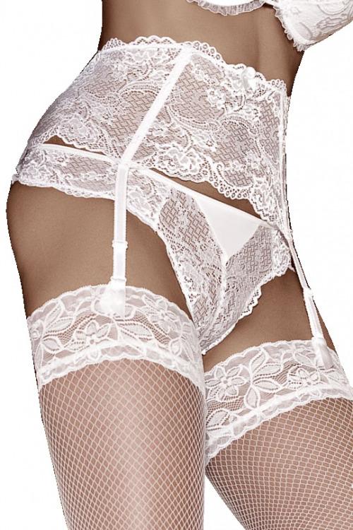 Dámské bokové krajkové kalhotky Solaris bílé