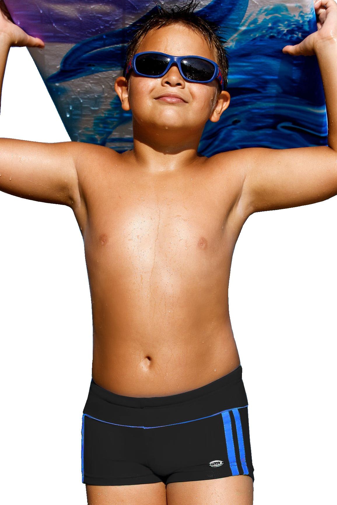 Plavky chlapecké Jirka černé - černá