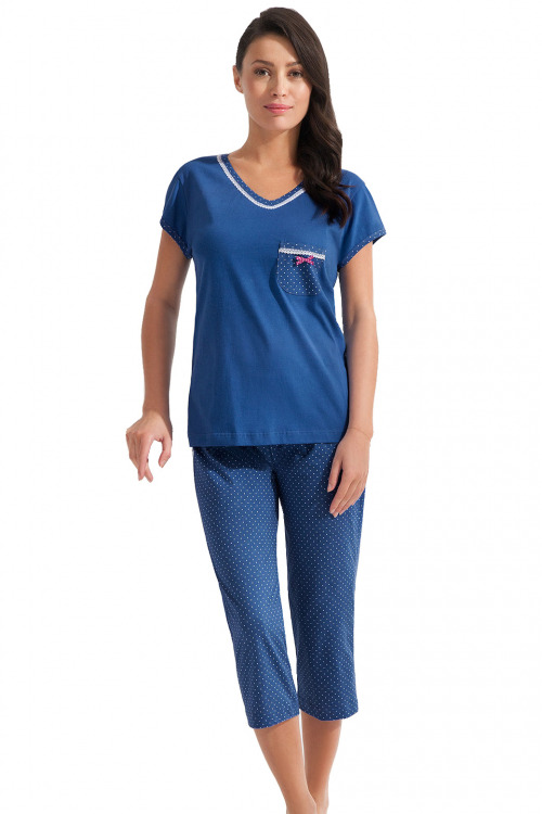 Dámské pyžamo Erika modré - modrá
