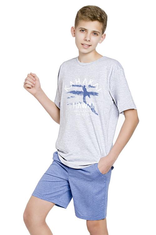 Chlapecké pyžamo surfing Kája šedé