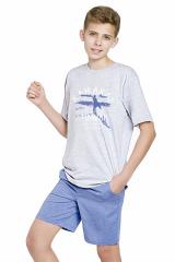 Chlapecké pyžamo Kája světlé šedé - šedá