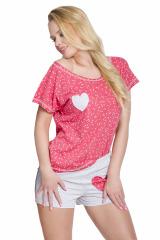 Dámské pyžamo Karla malinové - růžová
