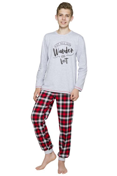 Chlapecké bavlněné pyžamo Miloš světle šedé