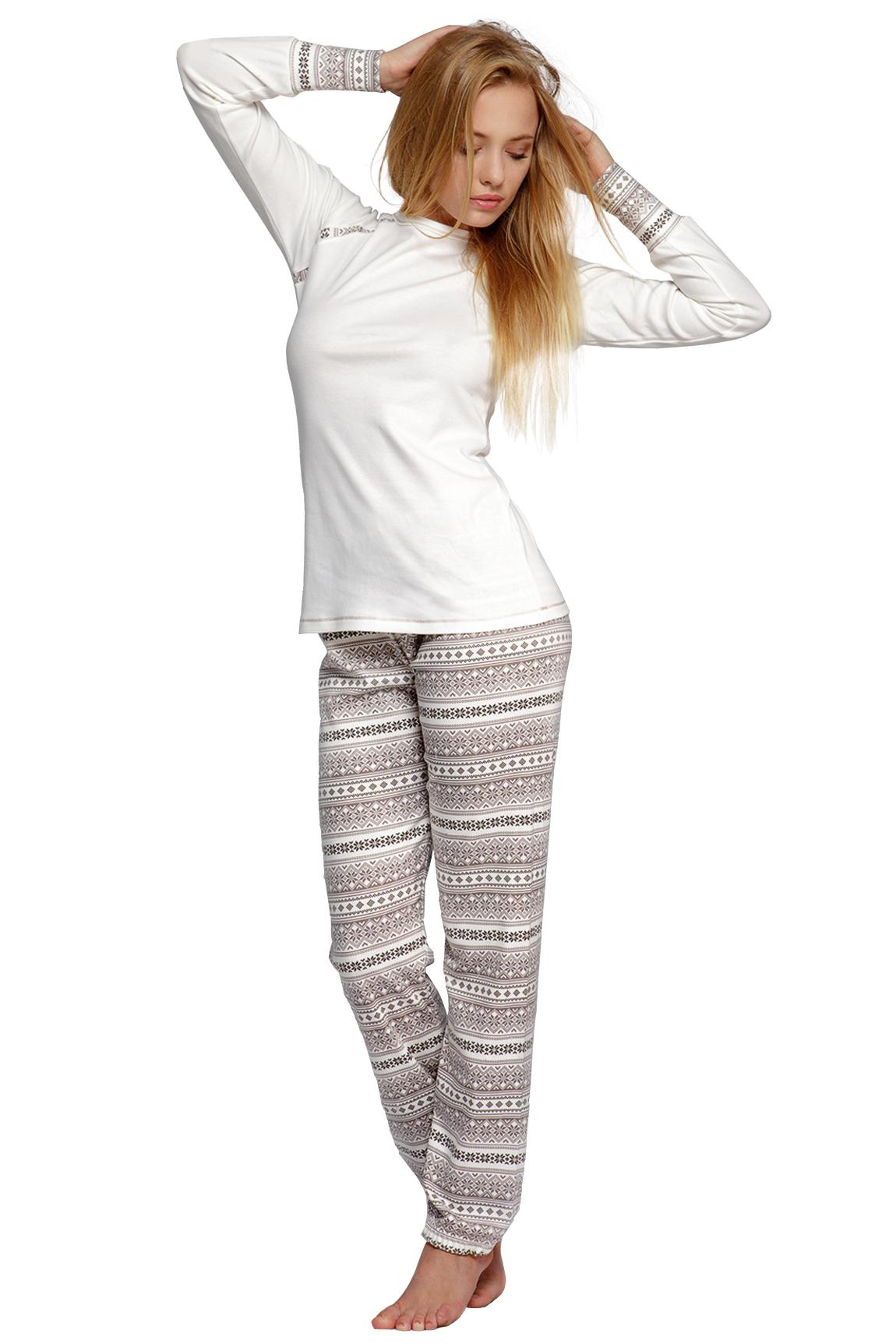 Dámské pyžamo Norveg - vanilková