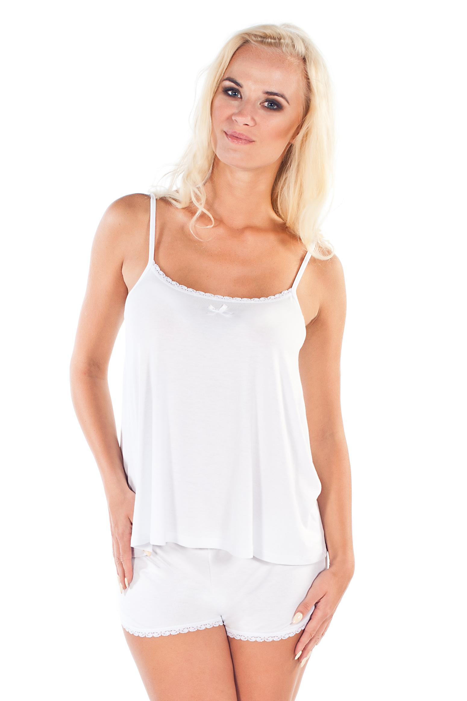 Letní dámské pyžamo Madam bílé - bílá