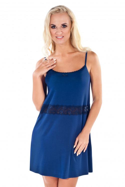 Dámská viskózová noční košilka Madam modrá