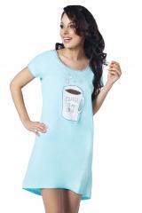 Dámská noční košile Coffee tyrkysová