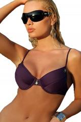 Dámské plavky Andrea fialové horní díl - fialová