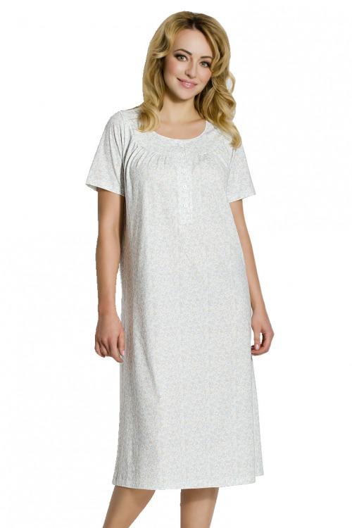 Dámská bavlněná noční košile Anna s kvítky