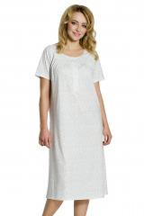 Dámská noční košile Anna s kvítky - vanilková