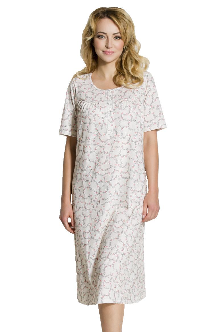 Dámská bavlněná noční košile Rilla růžová d3106113aa