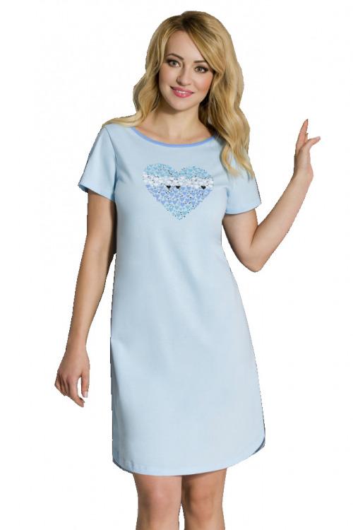 Dámská bavlněná noční košile Lovela modrá