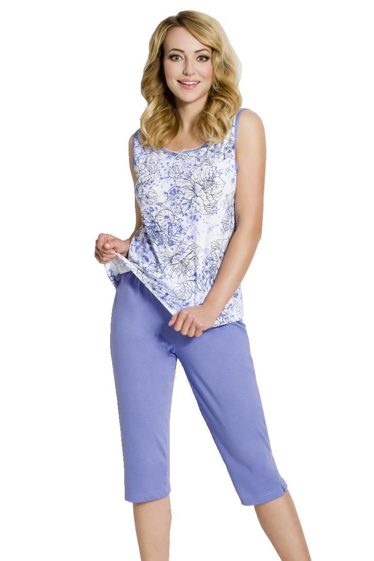 Dámské pyžamo Bela modré - modrá