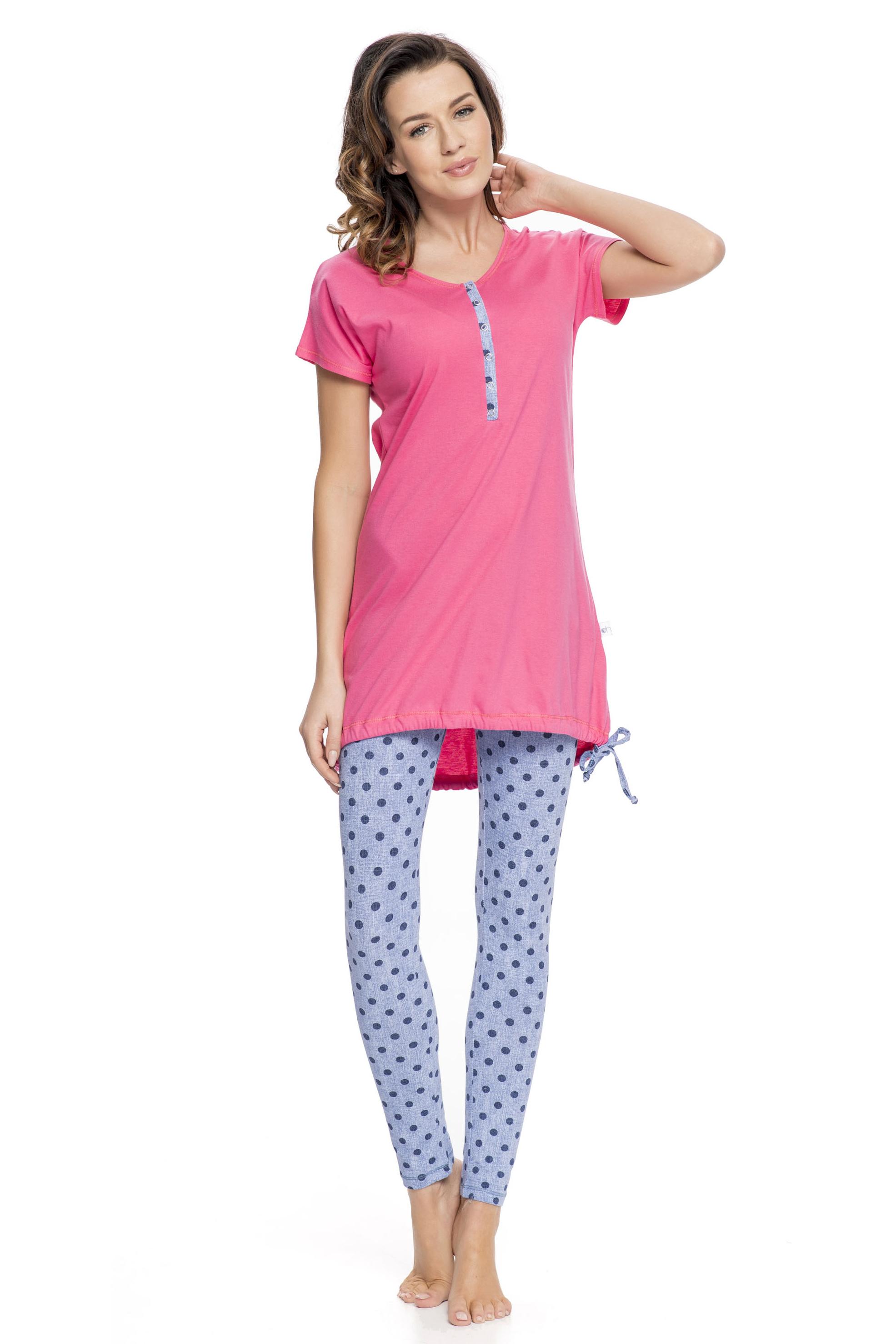 Dámské pyžamo Alaine s legínami - růžová