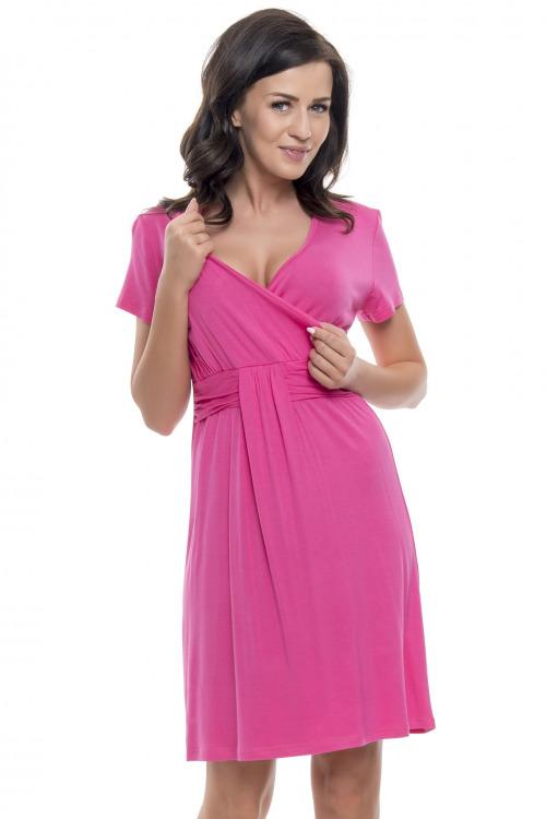 Těhotenská a kojící košile Tara růžová