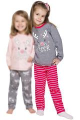 Dívčí pyžamo Oda sob šedé dlouhé - šedá