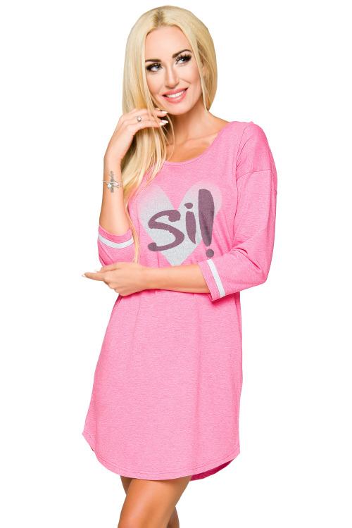 Dámská bavlněná noční košile Hana růžová