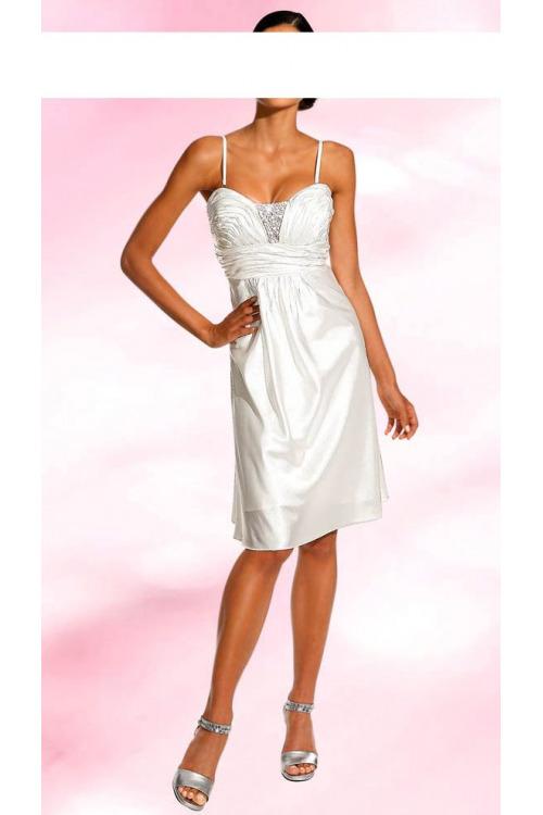Svatební šaty na ramínka (vel.40 skladem levně)