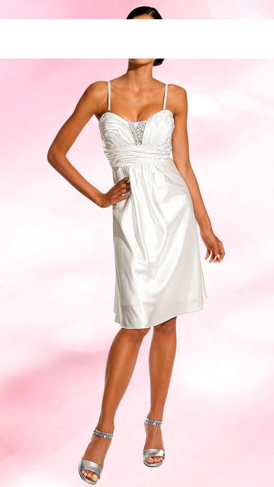 Svatební šaty na ramínka (vel.34,40 skladem levně)